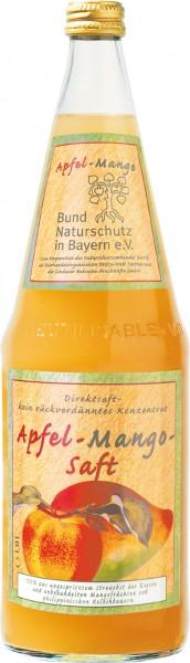 Lindauer Bund Naturschutz Bayern Apfel-Mango Direktsaft 6 x 1,0 Liter Glas