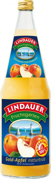 Lindauer Gold Apfelsaft trüb 6 x 1,0 Liter Glas