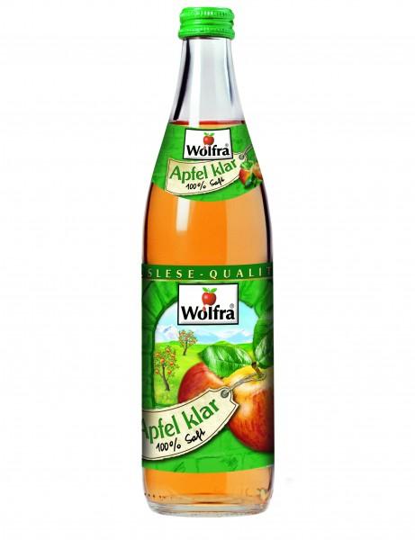 Wolfra Apfelsaft klar 20 x 0,5 Liter Glas