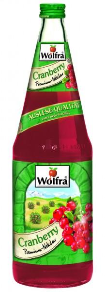Wolfra Cranberry 6 x 1,0 Liter Glas