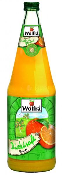 Wolfra Orangensaft Direktsaft 6 x 1,0 Liter Glas