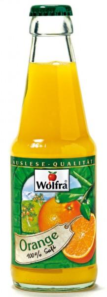 Wolfra Orangensaft 30 x 0,2 Liter Glas