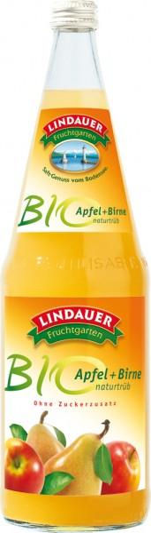 Lindauer Bio Apfel-Birne naturtrüb 6 x 1,0 Liter Glas
