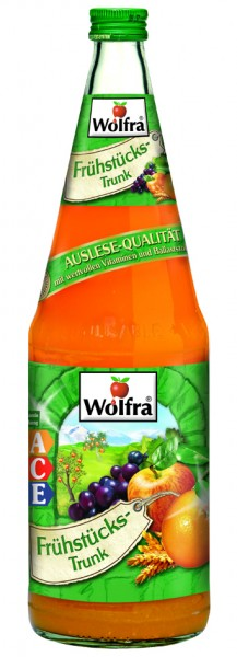 Wolfra Frühstückstrunk ACE 6 x 1,0 Liter Glas