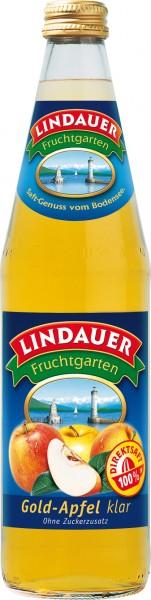 Lindauer Gold Apfelsaft klar 10 x 0,5 Liter Glas