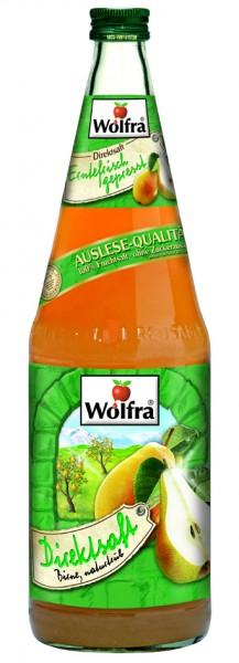 Wolfra Birnensaft - Direktsaft 6 x 1,0 Liter Glas