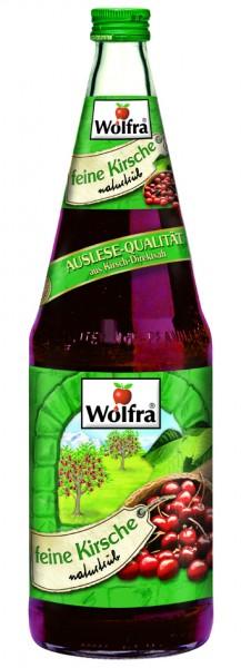 Wolfra Feine Kirsche naturtrüb - Direktsaft 6 x 1,0 Liter Glas