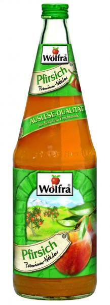 Wolfra Pfirsich 6 x 1,0 Liter Glas