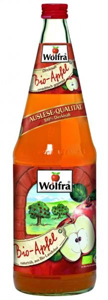 Wolfra Bio Apfel naturtrüb 6 x 1,0 Liter Glas