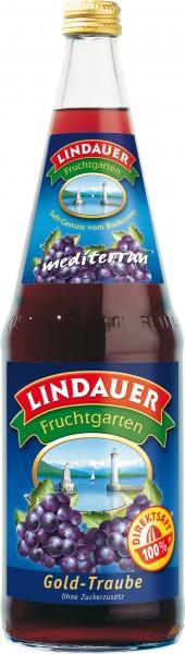 Lindauer Gold Traube Rot Direktsaft 6 x 1,0 Liter Glas