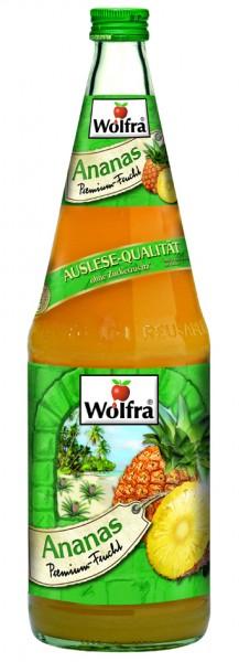 Wolfra Ananassaft 6 x 1,0 Liter Glas
