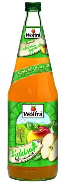 Wolfra Apfelsaft naturtrüb - Direktsaft 6 x 1,0 Liter Glas