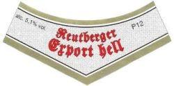 Reutberger Export Hell 20 x 0,5 Liter