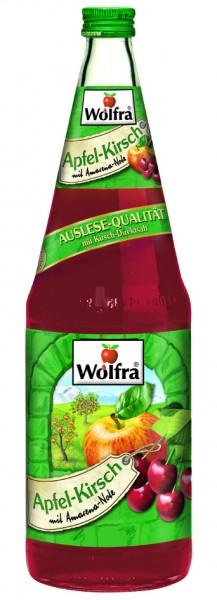 Wolfra Apfel Kirsch 6 x 1,0 Liter Glas