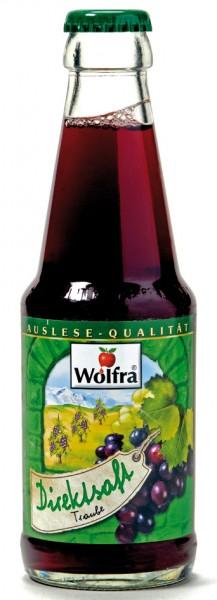 Wolfra Traubensaft rot - Direktsaft 30 x 0,2 Liter Glas