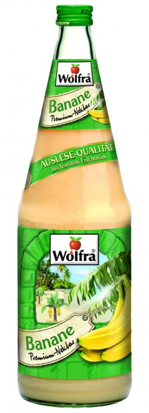 Wolfra Banane 6 x 1,0 Liter Glas
