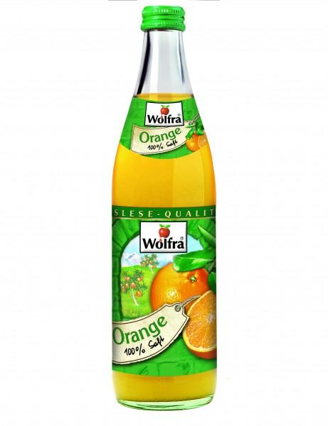 Wolfra Orangensaft 20 x 0,5 Liter Glas