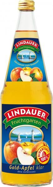 Lindauer Gold Apfelsaft klar 6 x 1,0 Liter Glas