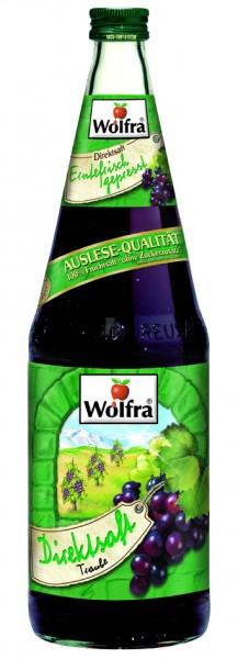 Wolfra Traubensaft rot - Direktsaft 6 x 1,0 Liter Glas